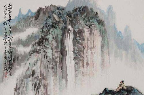 望庐山瀑布水二首,《望庐山瀑布》,你能背诵的出全诗吗?