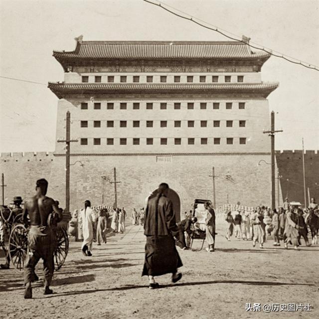 清朝末年的北京前门地区,真正的正阳门下生活
