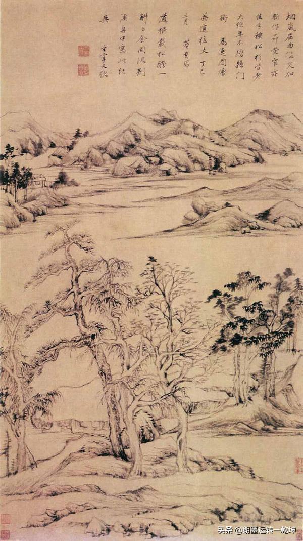 """王维是禅意绘画的先驱,苏东坡称赞其造诣""""诗中有画,画中有诗"""""""