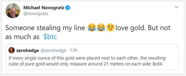 比特币还是黄金?诺沃格拉茨提到了他最喜欢的资产