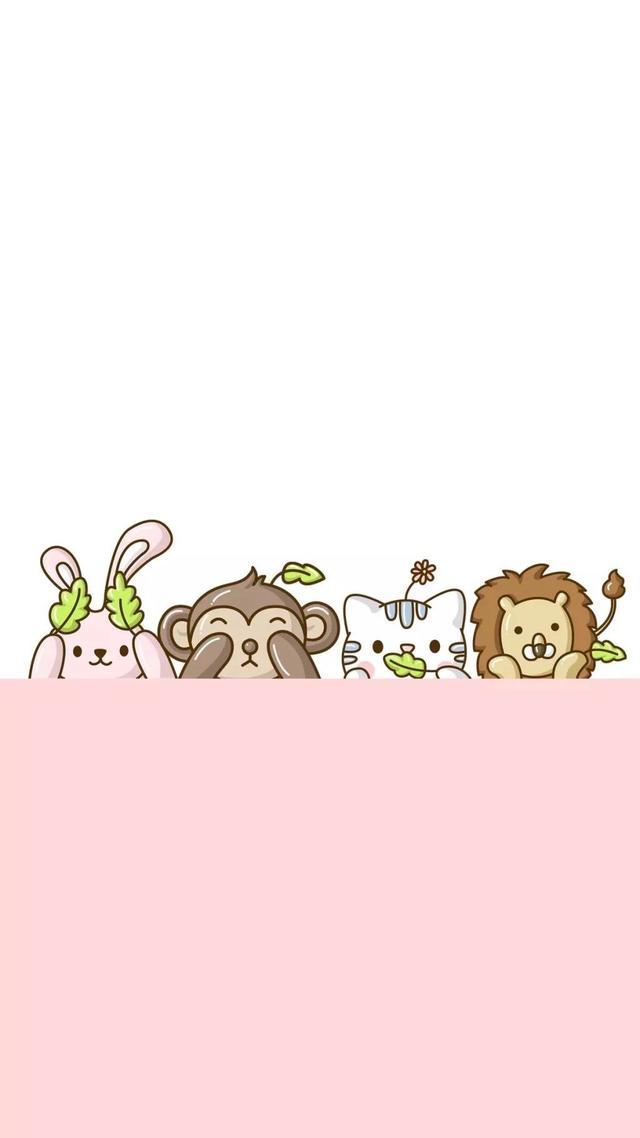 「卡通动物头像壁纸」可爱的萌萌的壁纸来了魔方甜点壁纸
