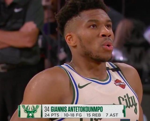 字母哥很憋屈!轟36+18+8末節僅6分,被對手狂扔61顆三分!(影)-籃球圈
