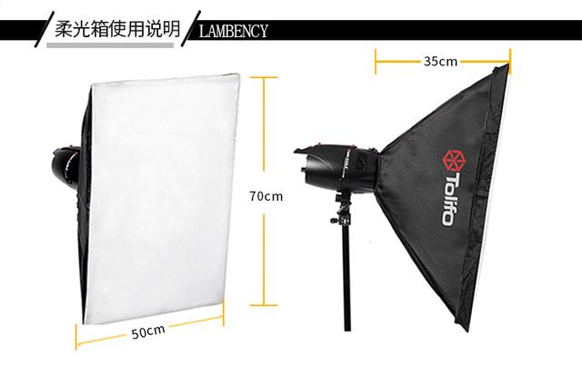摄影灯套装250W双灯影室闪光灯人像静物摄影照相馆证件照灯拍照