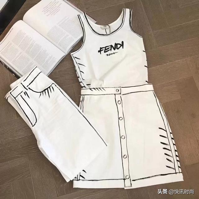 FENDI的加州天空系列,时尚黑白极简线条,明星们撞衫也要穿