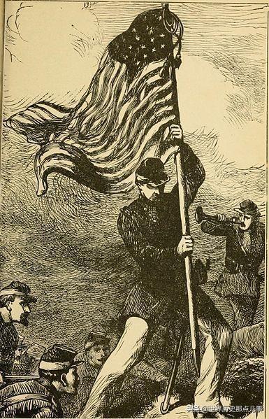 美国内战中的战旗手:战场上已经没有那面旗,但传说依然在回响