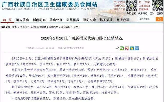 广西昨日新增1例为河池都安病例,南宁已连续3天无确诊病患