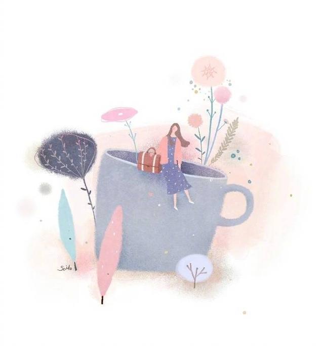「手绘插画头像」很多时候觉得真的熬不下去 快要崩溃了魔方甜点