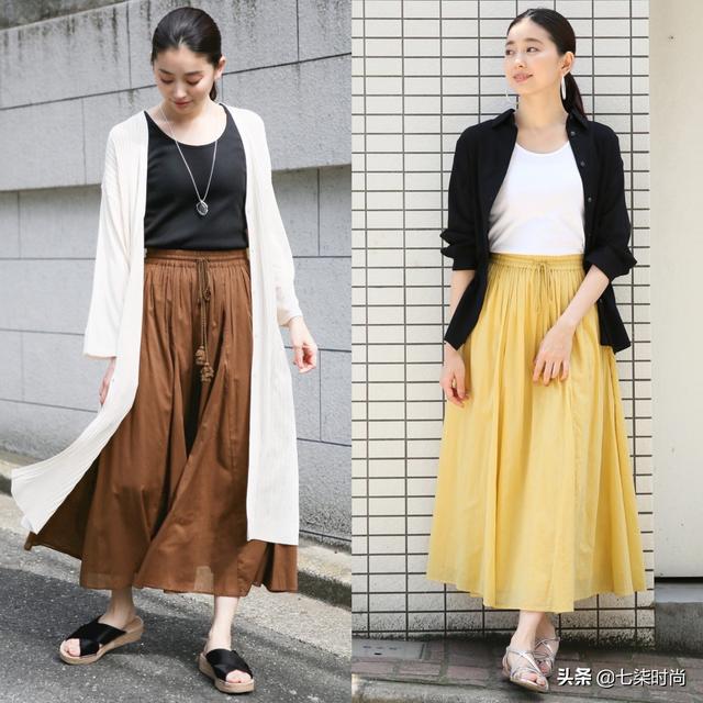 日本这位圆脸博主,一身素雅穿出知性美,微胖女生也可以借鉴