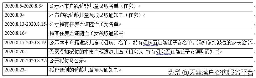 天津师范大学滨海附属学校(小学部)2020级招生简章