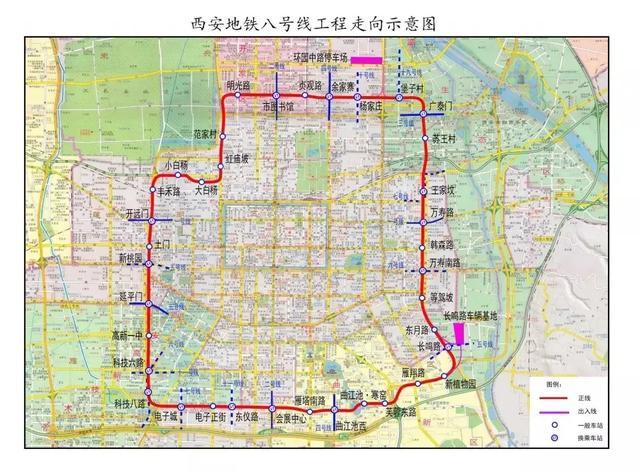 地铁八号线雁翔路站明起封闭施工 3条公交线路将绕行