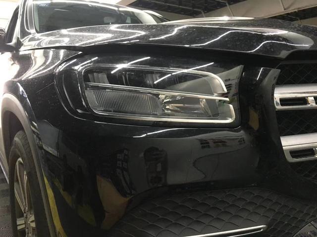 新款奔驰GLS450低配改高配几何多光束智能大灯案例分享