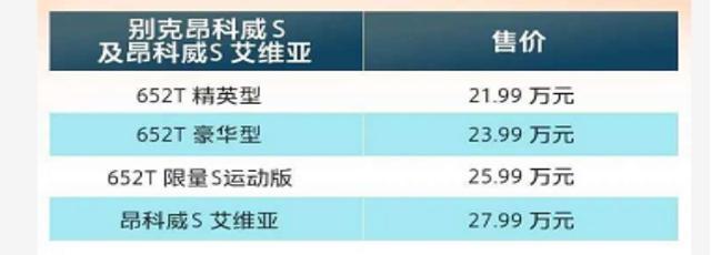 昂科威S上市,21.99万起售,2.0T+9AT+四驱,内饰科技感十足