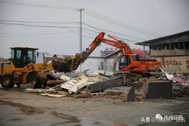 安邑水库周边5072平方米违法建筑被拆