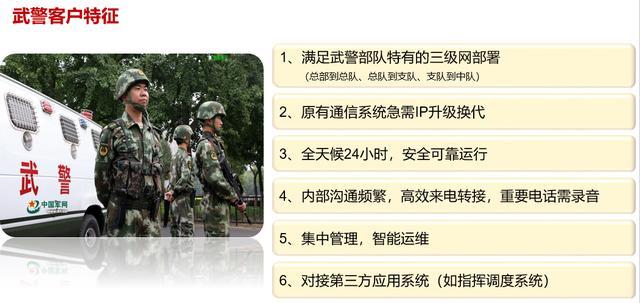 武警部队专网通信解决方案