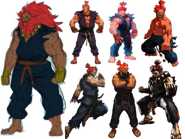 历代《街头霸王》人物的画风演变,每个形象都代表一个时代