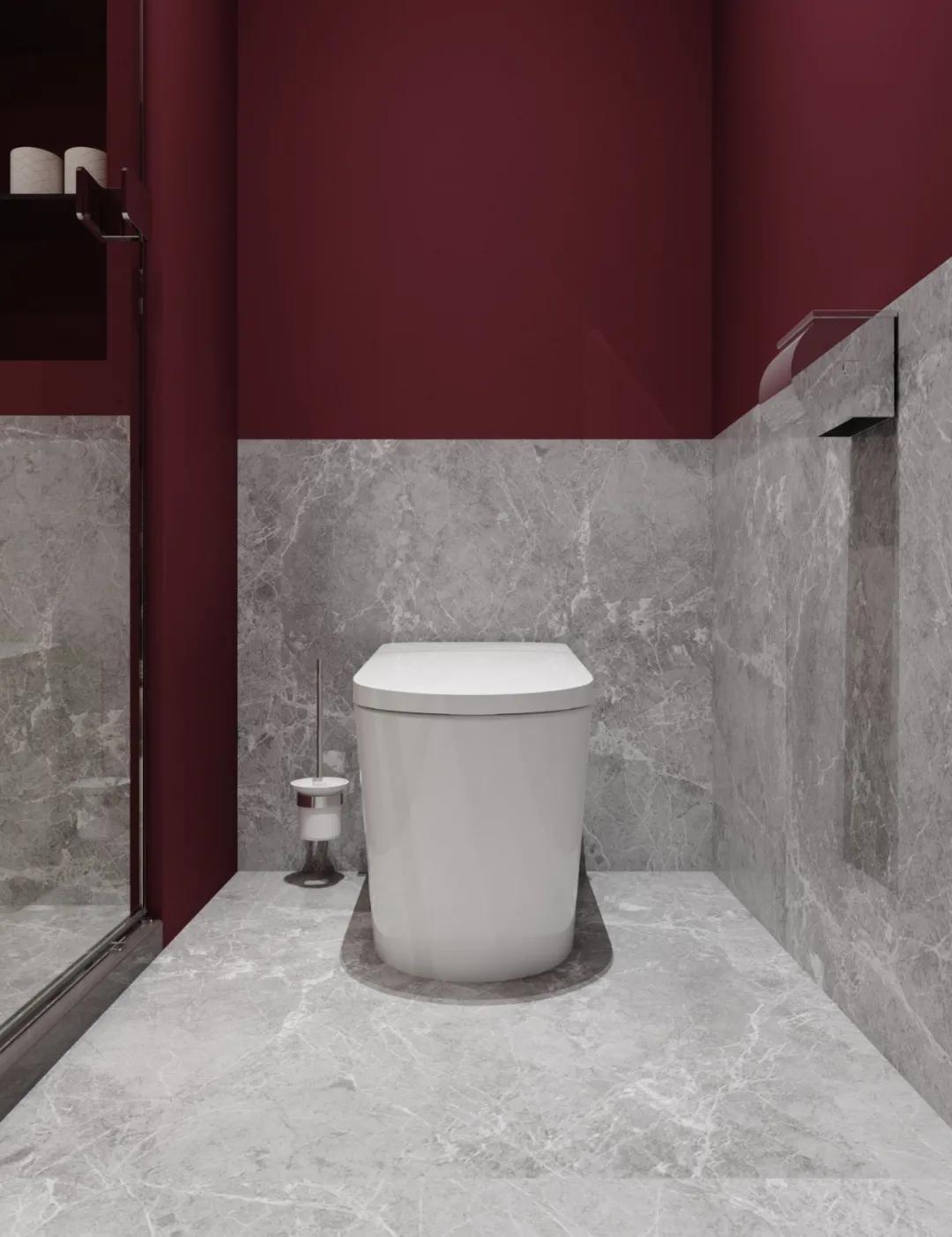 """鲸品设计   浴室装修用口红色号""""梅子色""""?眼前一亮啊"""