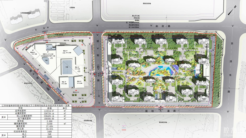40.59亿拿地,21栋高层、邻里中心…碧桂园义乌江东项目规划公示(图3)