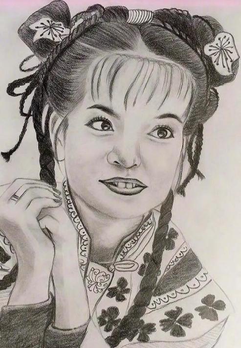 网友说:儿子学了三年的美术,画成这样我还要不要支持下去 哈哈哈,你们能认出是谁吗