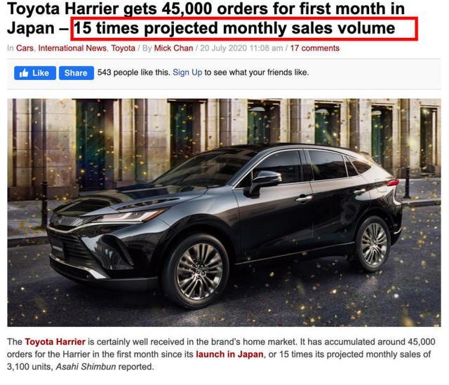 """上市就成""""爆款"""",豐田Harrier或將明年引進,會受國人追捧嗎?"""