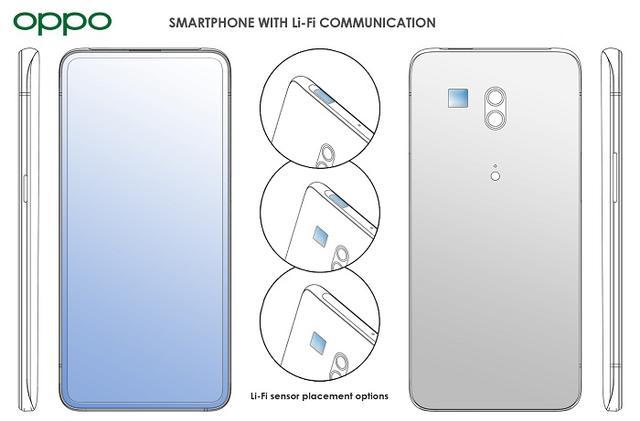 OPPO新专利�光,支�LiFi技术,速度超WiFi百�