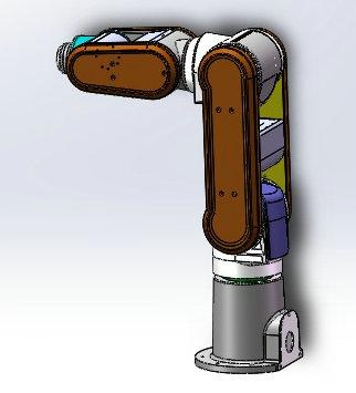 SR1-545机器人模型3D图纸 STEP格式