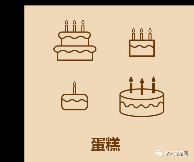 生日蛋糕简笔画简单又好看