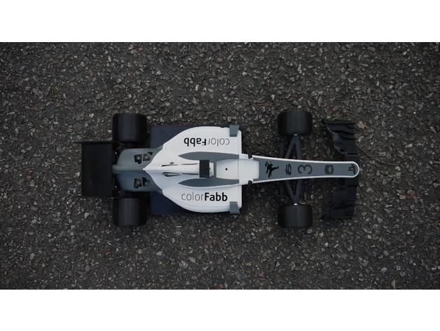 OpenRC F1 2017赛车迷你模型3D打印图纸