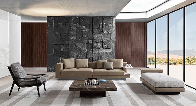 Italy Minotti 意大利家具米诺提设计师新款扶手椅Fynn 沙发椅