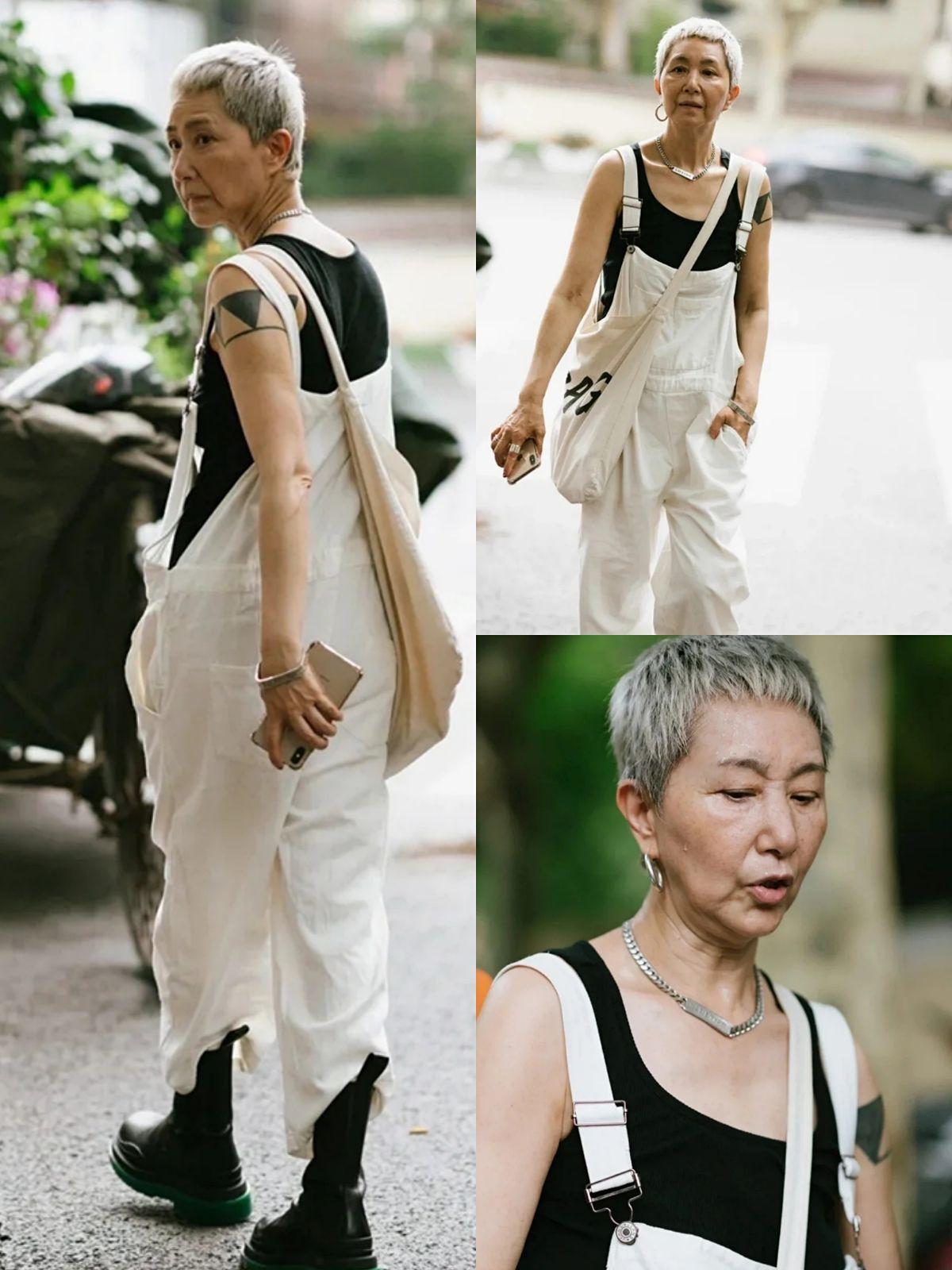 潮流無關年齡,60後「時尚奶奶」成街拍常客