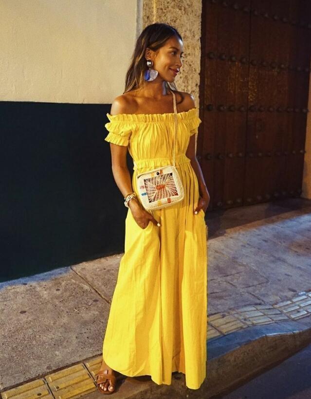有著健康小麥肌的洛杉磯的時尚博主 滿滿熱帶風情穿搭