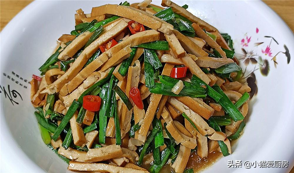 【韭菜炒香干】做法步骤图 简单下锅一炒 鲜美开胃更下饭一盘