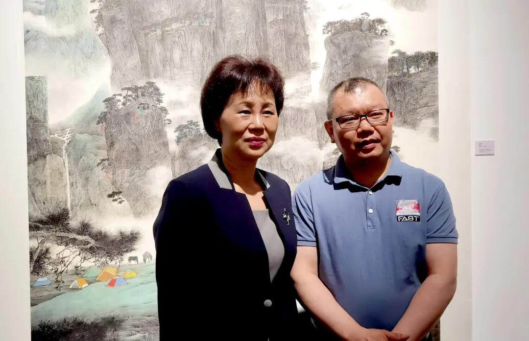 画家未君作品亮相湖南统一战线庆祝中国共产党成立100周年书画展