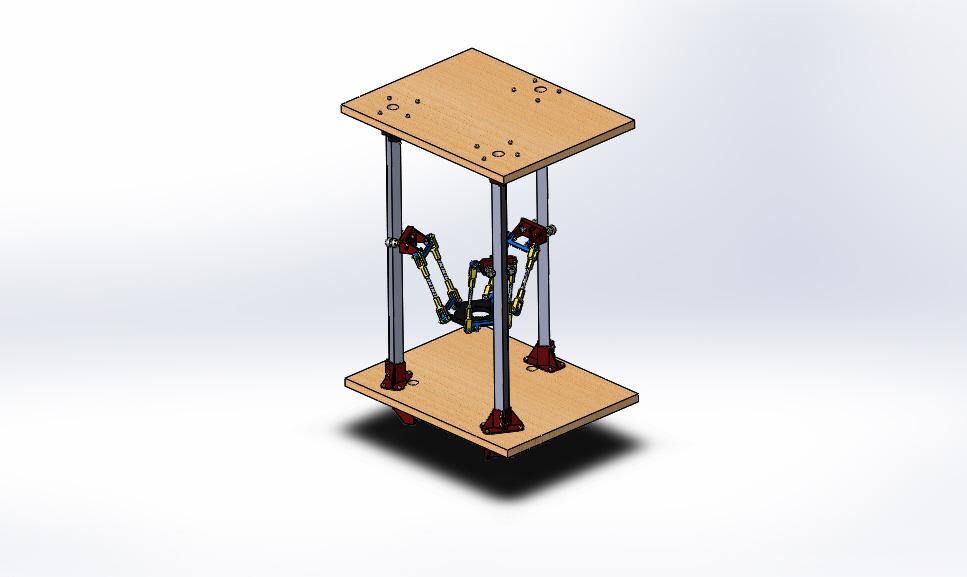 Delta Pi Reborn 3D打印机模型图纸 Solidworks设计