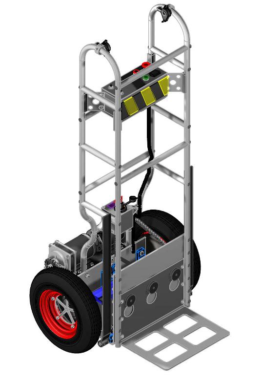 WRA电动手推运货车3D模型图纸 STEP格式