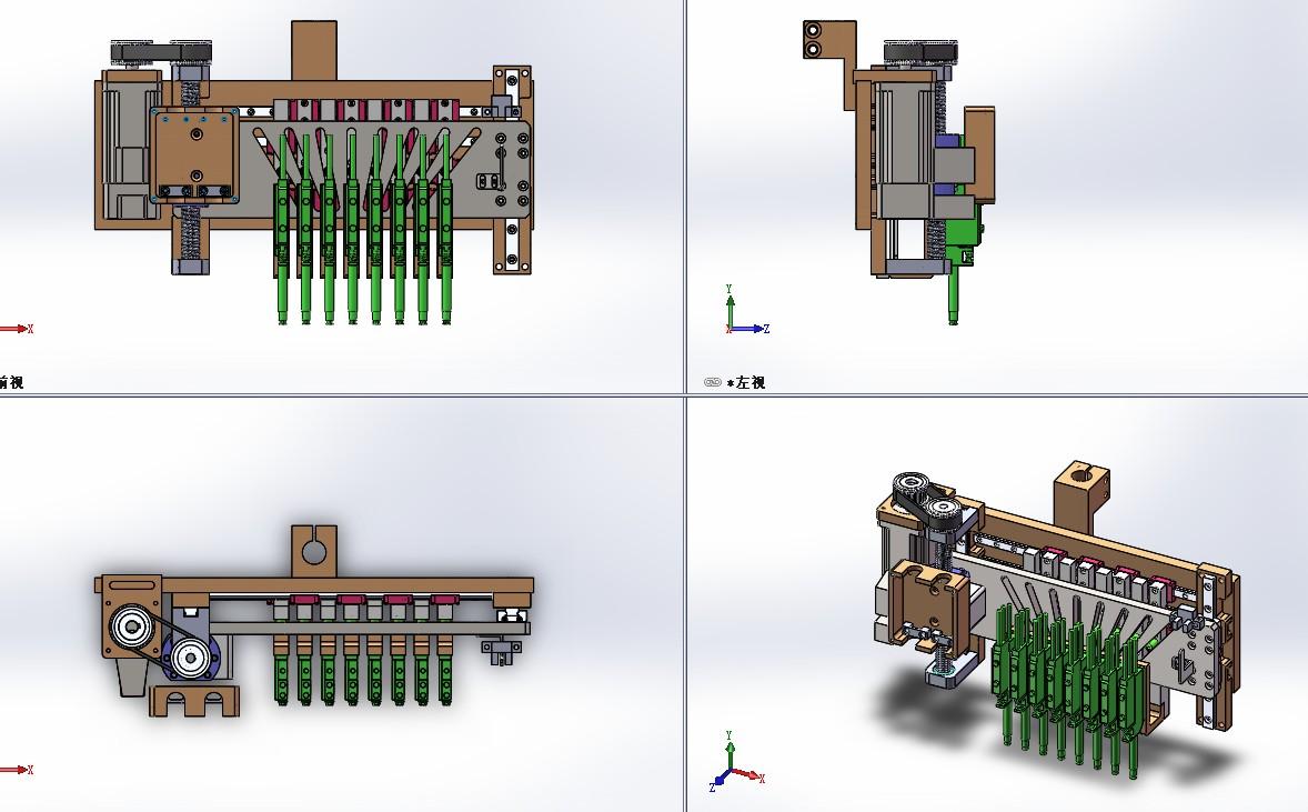 等分机构总装3D图纸 Solidworks设计