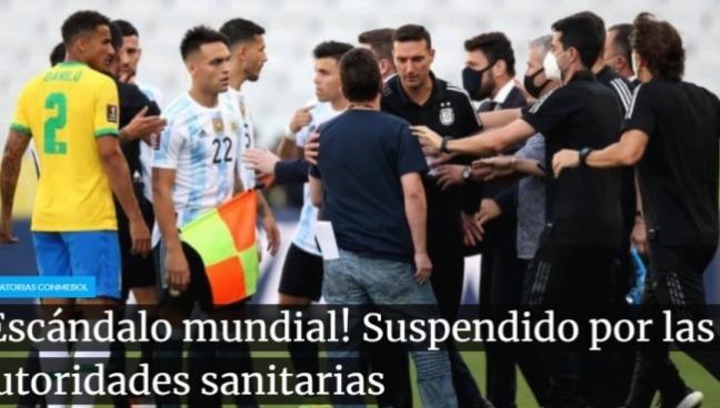 巴西阿根廷比赛8分钟被迫中断,梅西表不满,正式比赛成训练