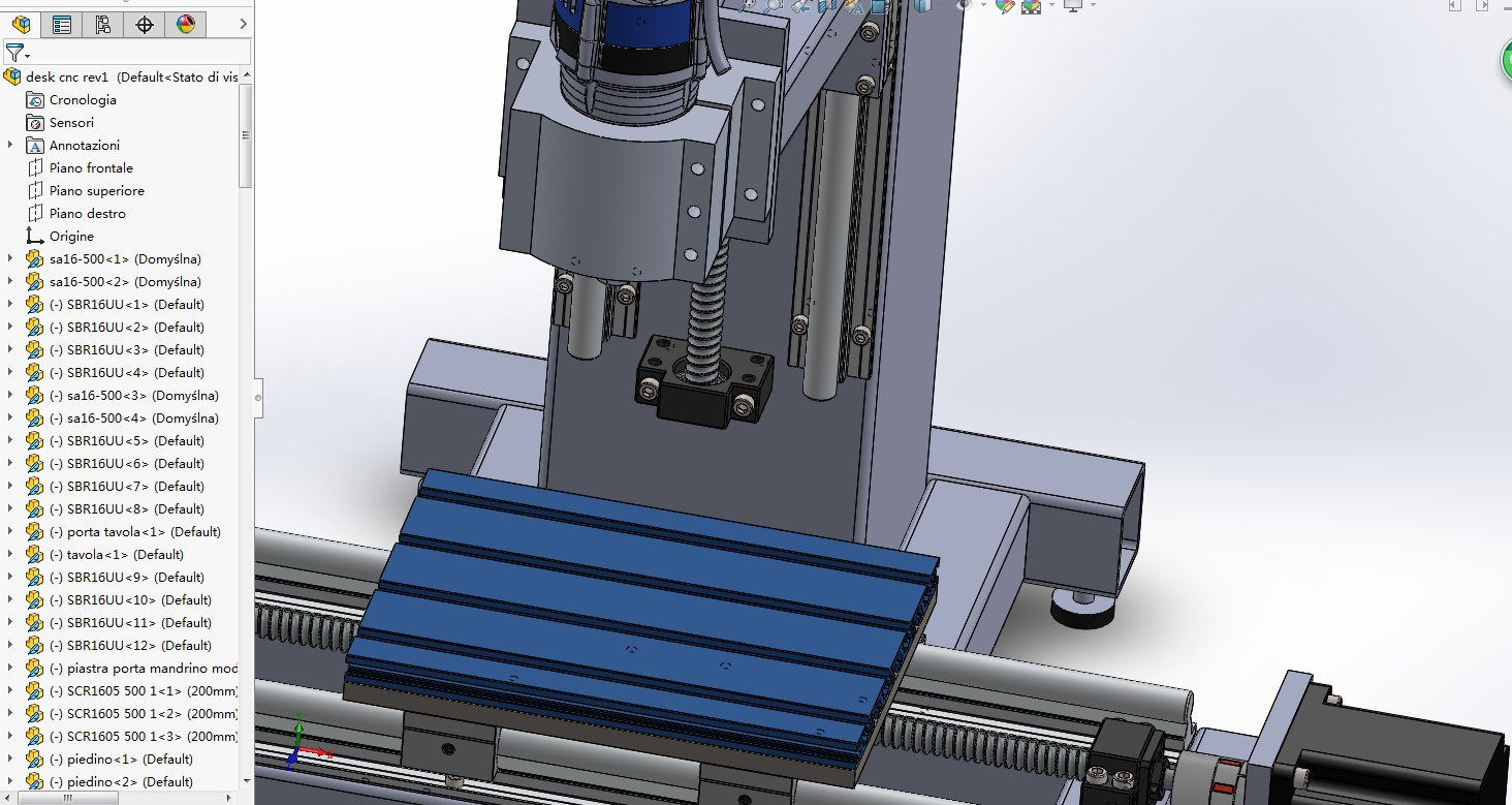 desk cnc桌面台式数控机床3D数模图纸 Solidworks设计 附STEP IGS