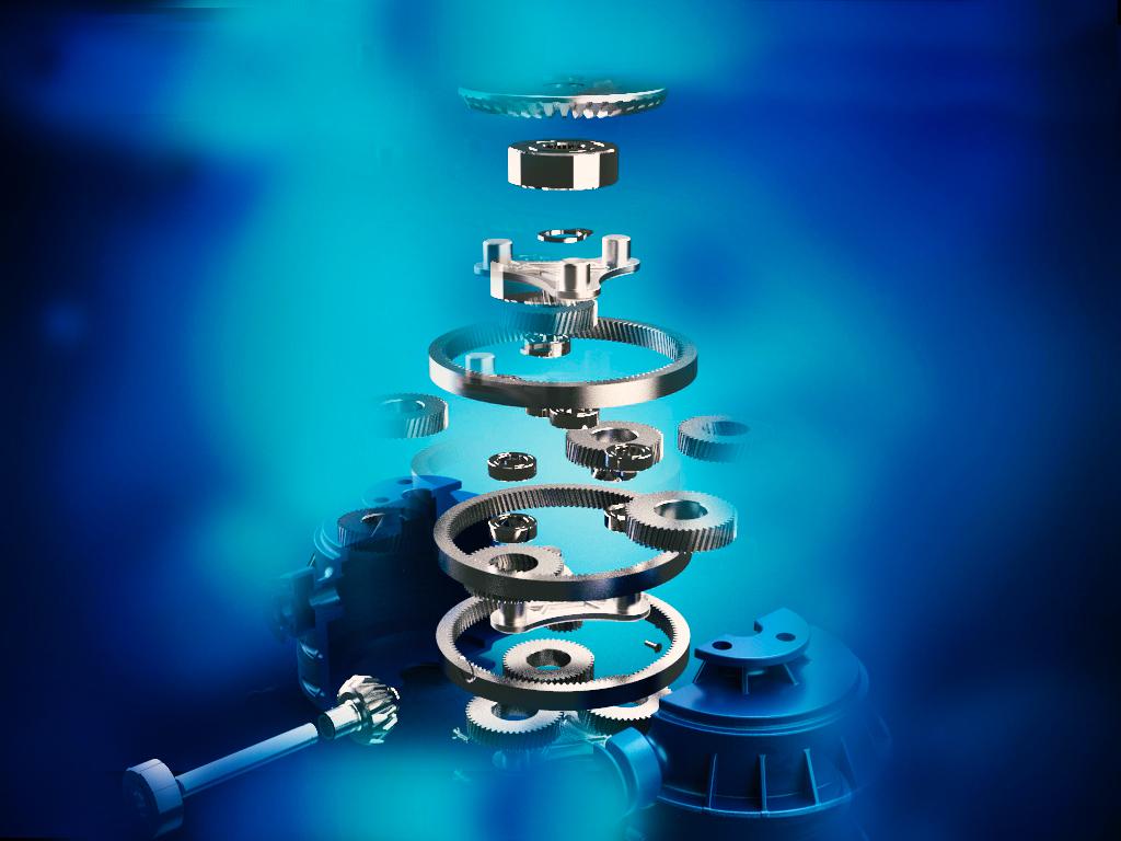grundfos锥齿轮行星齿轮传动3D数模图纸 CATIA设计 附STP
