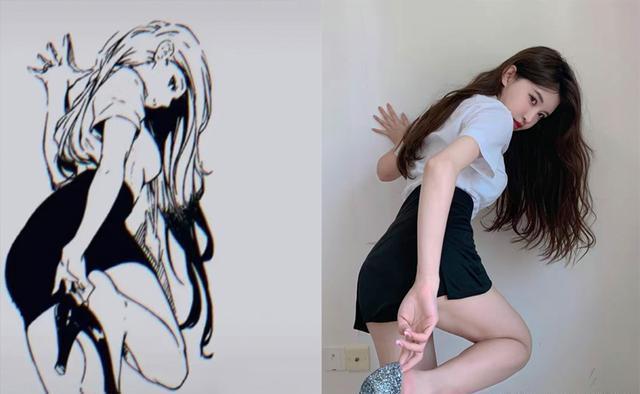 自COSER挑戰「漫畫腿」之後,又開始了「漫畫腰」,網友卻說不行