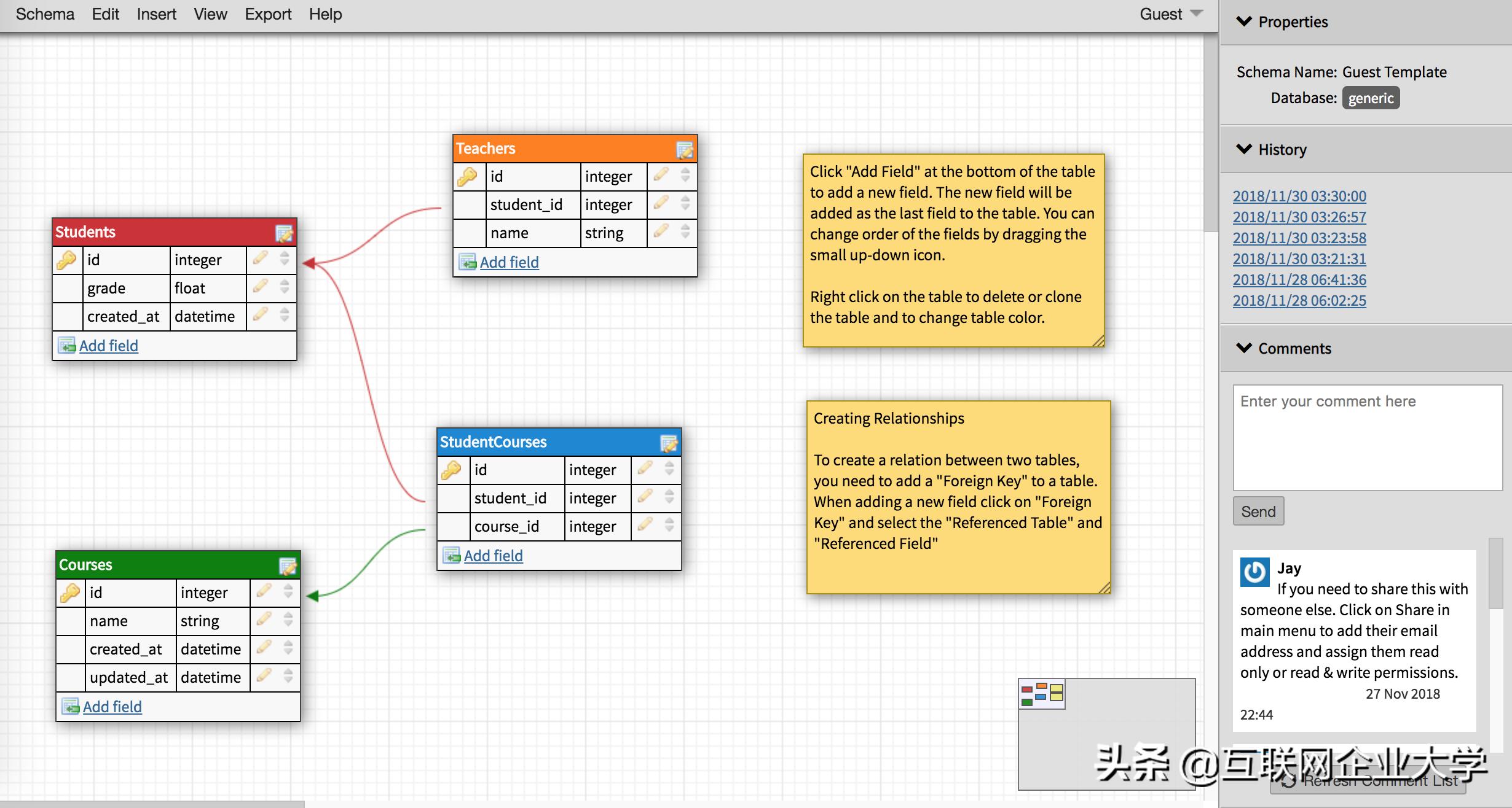 还在用powerdesigner?安利几个在线数据库建模工具