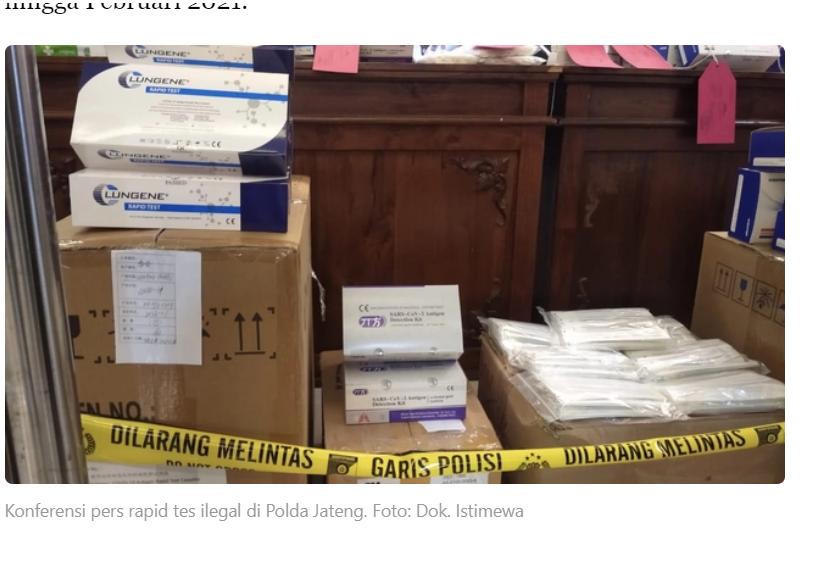 """印尼非法""""试剂盒""""窝点被取缔,主犯或将获15年刑期"""