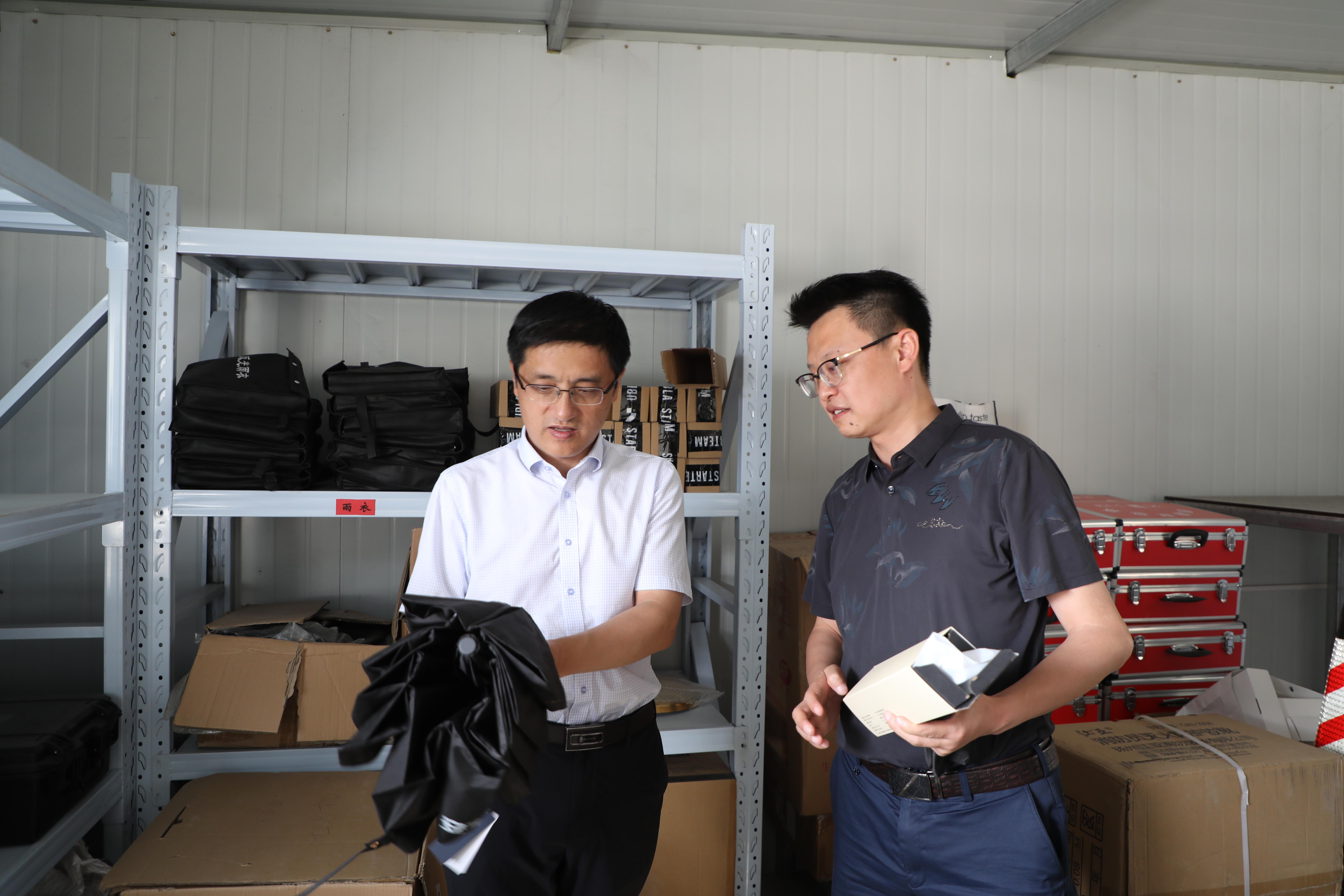 安宁区政府主要领导调研汛期安全及防汛物资储备工作