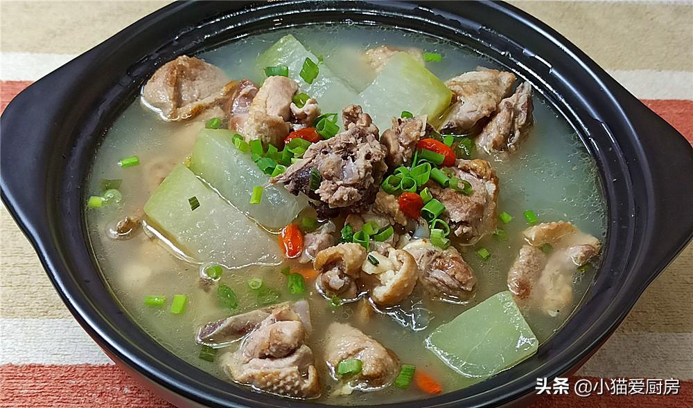 【老鸭冬瓜汤】做法步骤图 味道鲜美清香 清热还解暑