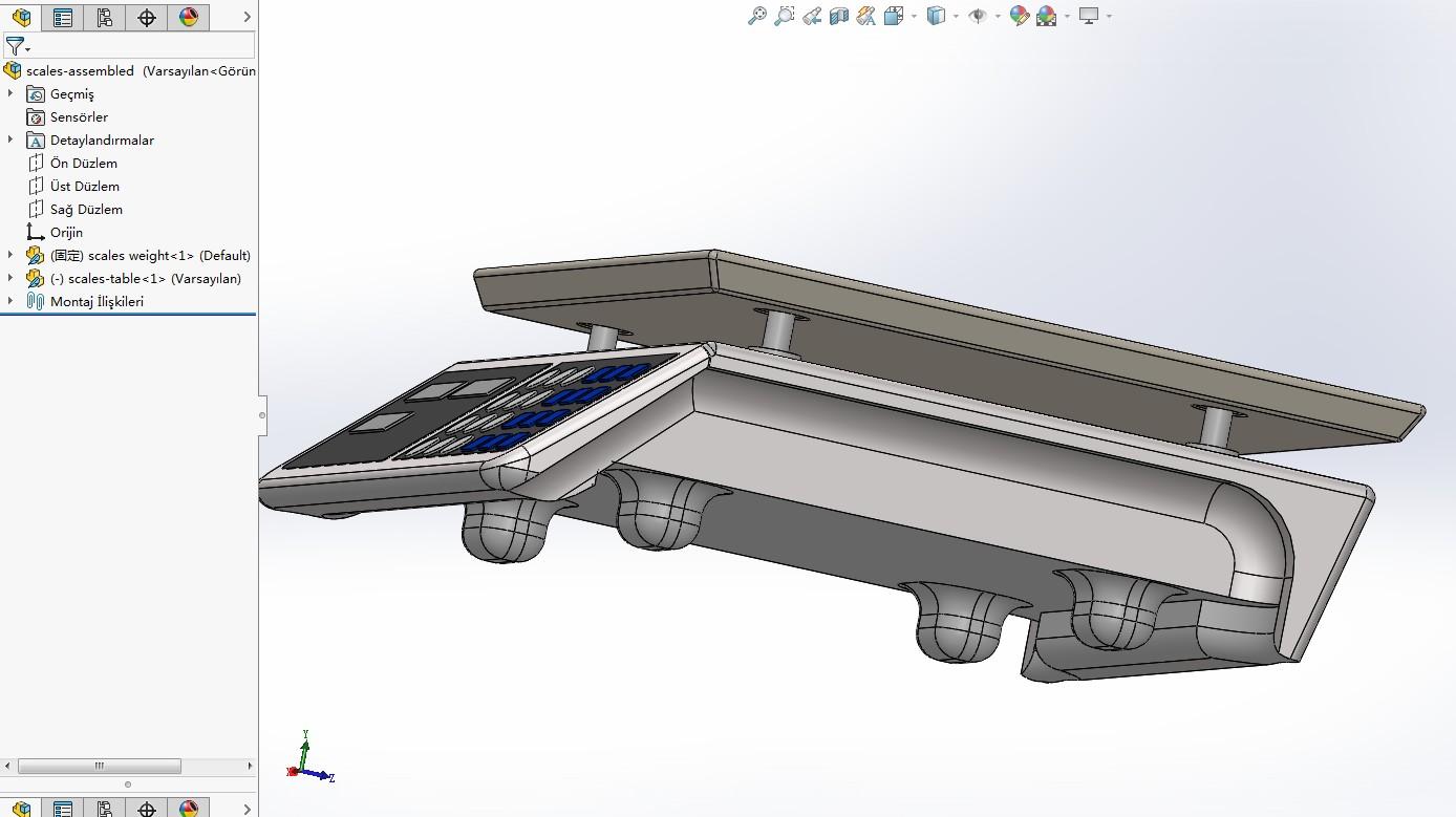 weight scales普通电子称模型3D图纸 Solidworks设计