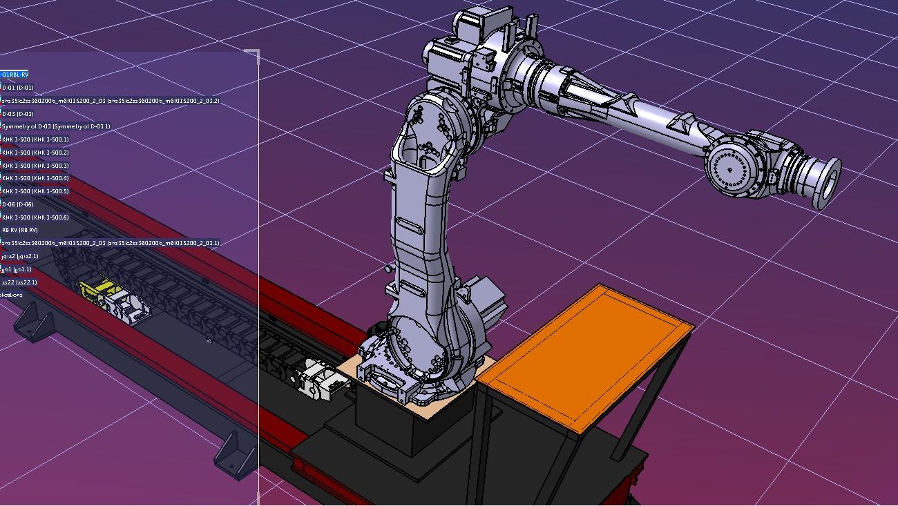 机器人行走轴和安川MH50机器人3D模型图纸 STP格式