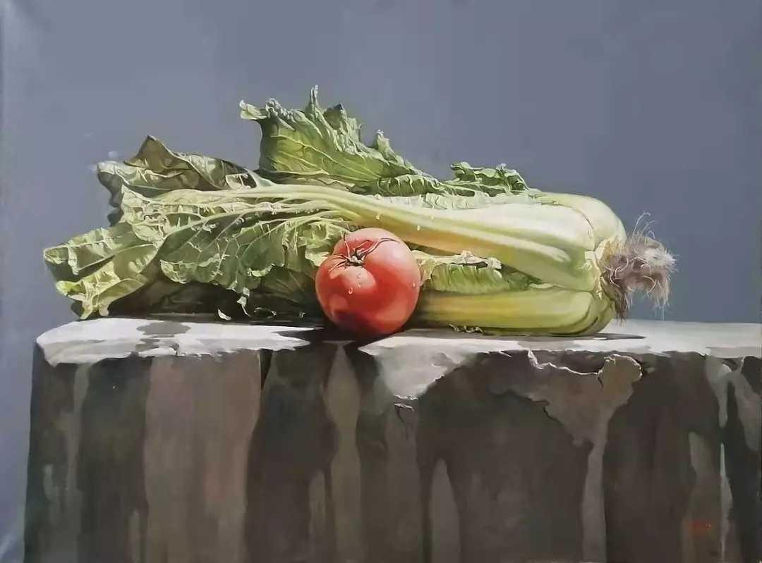 大松的静物画——读大境界中的小情趣