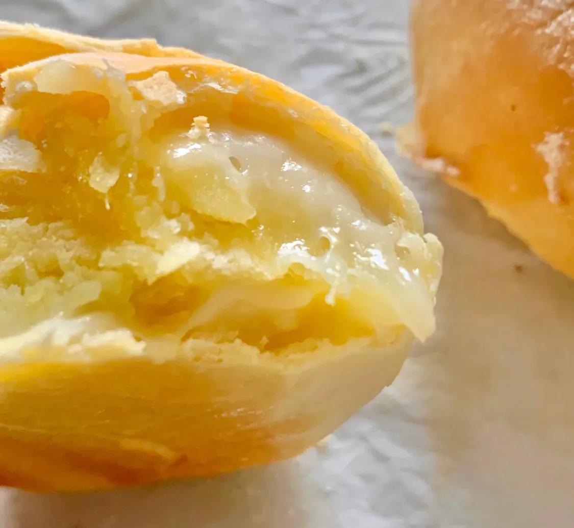 半个就饱的牛奶红薯麻薯软欧 美食做法 第14张