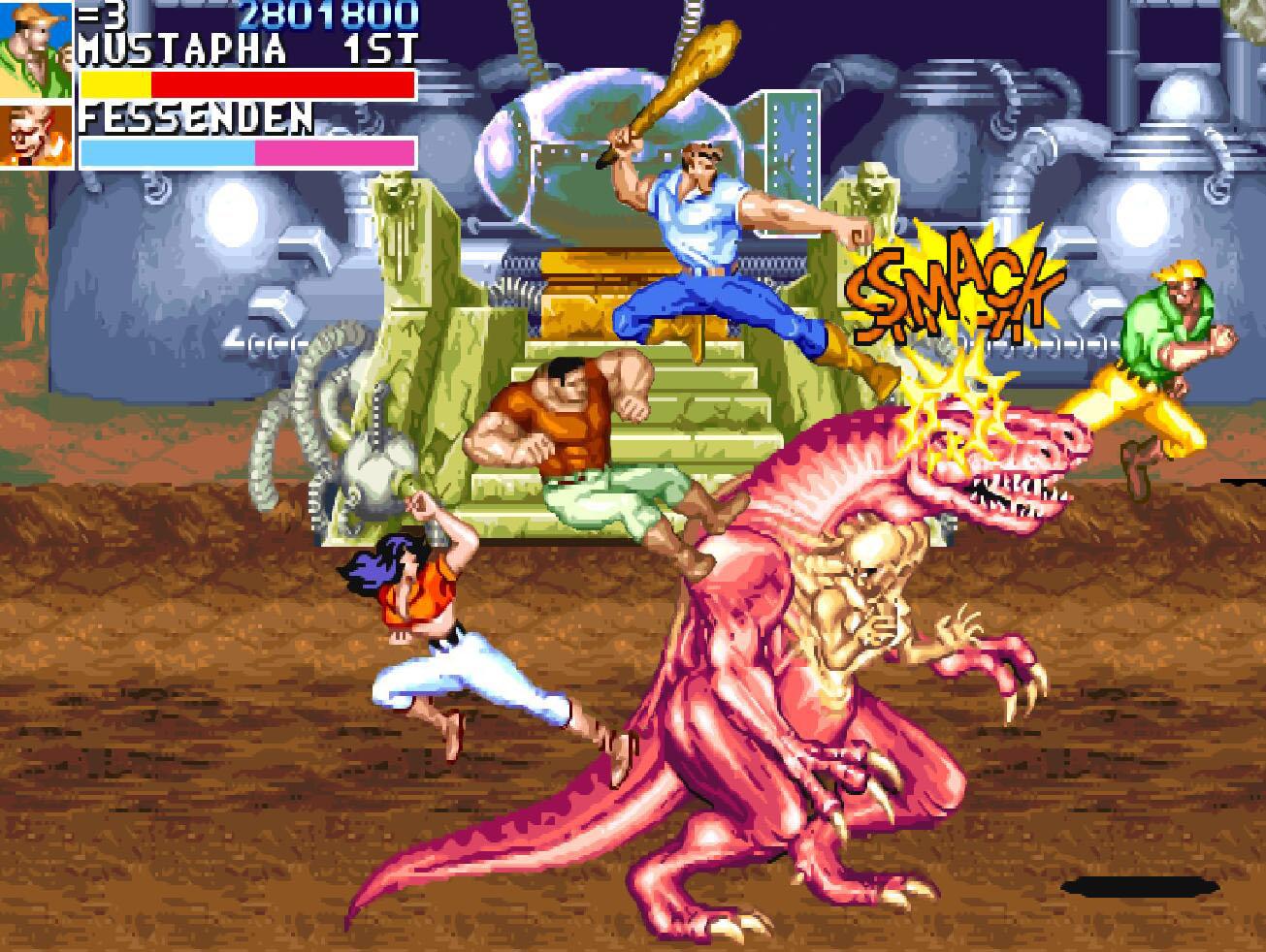 街机《恐龙快打》漫画剧情:汉娜被蜥蜴人捉住,改写了人类的命运