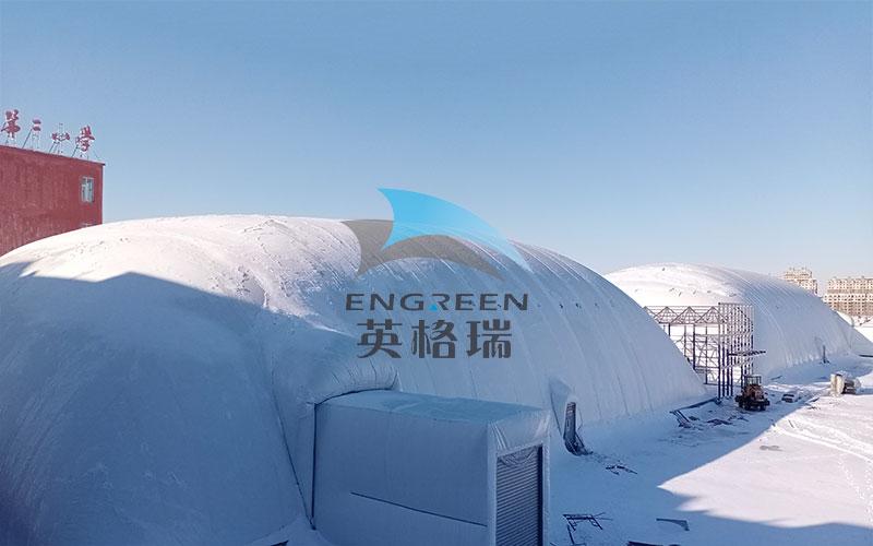 膜建筑是冰冷的冬季搭建恒温仓库的常用方案