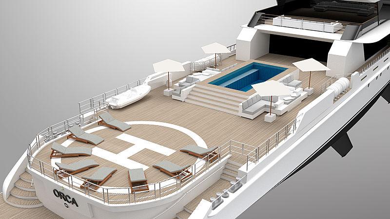 """意大利Rosetti超级游艇发布65米超级游艇概念""""ORCA虎鲸"""""""